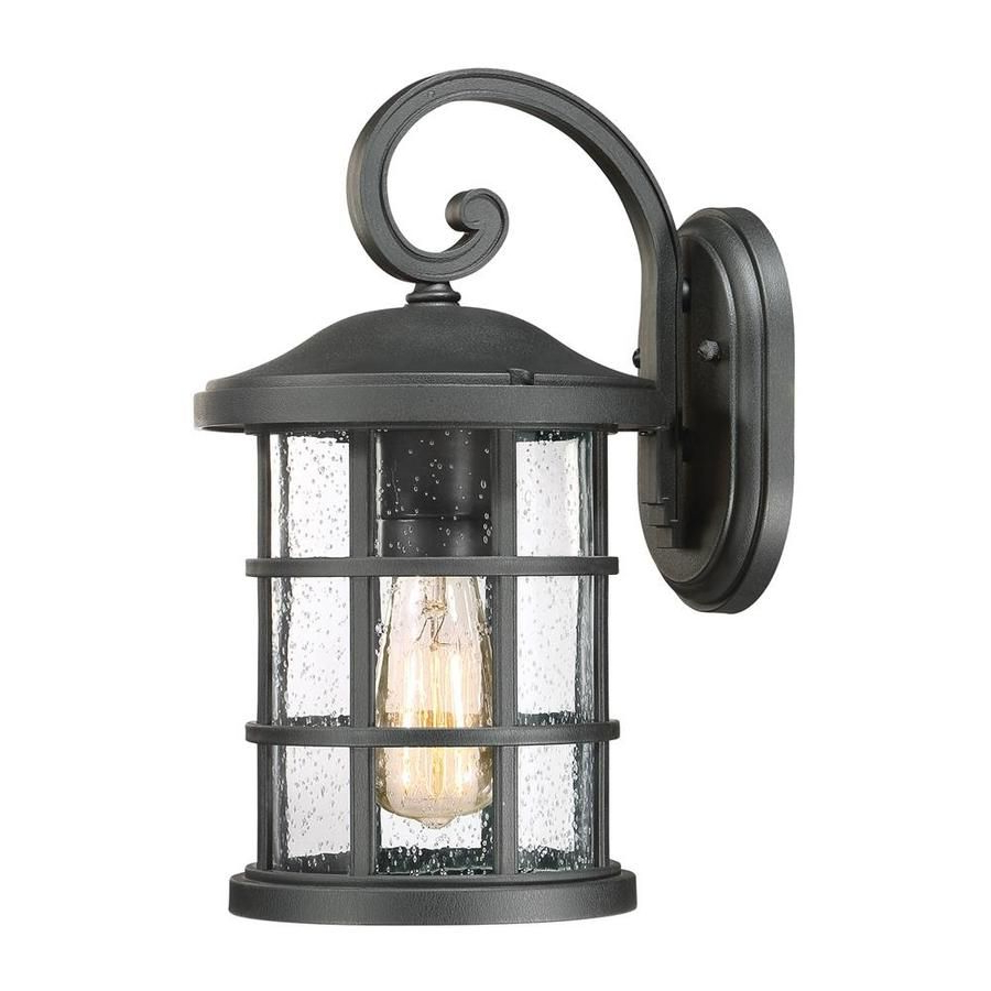 Famous Quoizel Crusade 14 In H Earth Black Medium Base (e 26 Intended For Ainsworth Earth Black Outdoor Wall Lanterns (View 15 of 15)
