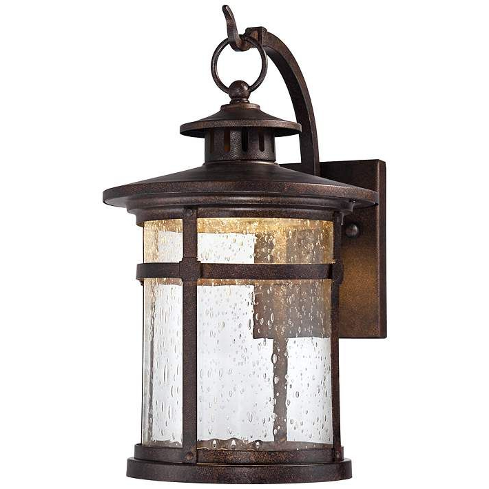 """Fashionable Callaway 11 1/2"""" High Rustic Bronze Led Outdoor Wall Light With Regard To Chicopee 2 – Bulb Glass Outdoor Wall Lanterns (View 15 of 15)"""