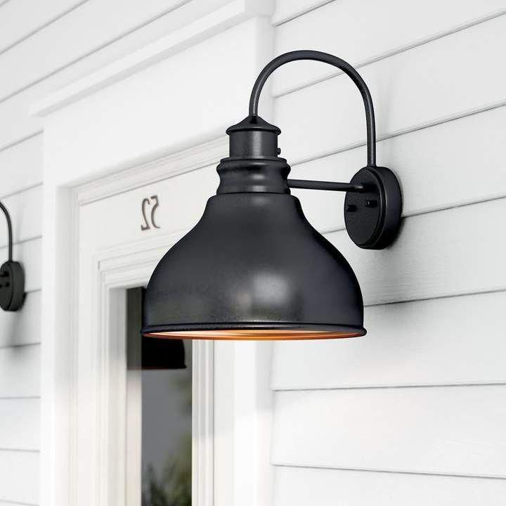 Featured Photo of Ranbir Oil Burnished Bronze Outdoor Barn Lights with Dusk to Dawn