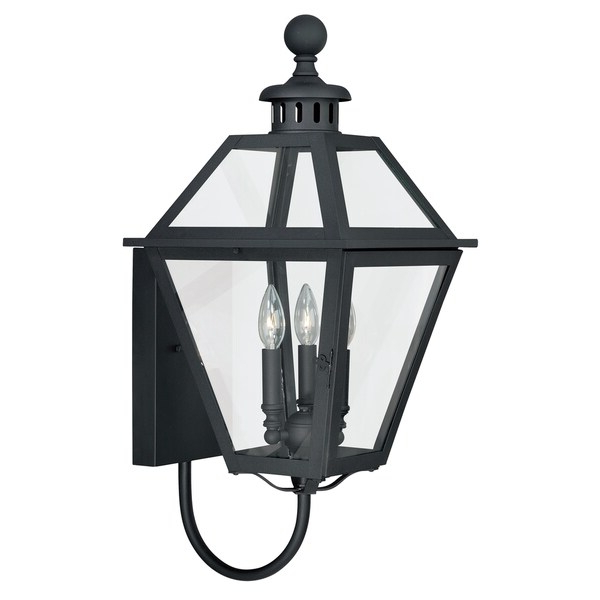 Fashionable Shop Nottingham 3 Light Black Empire Outdoor Wall Lantern With Roden Black 3 Bulb Outdoor Wall Lanterns (View 5 of 15)
