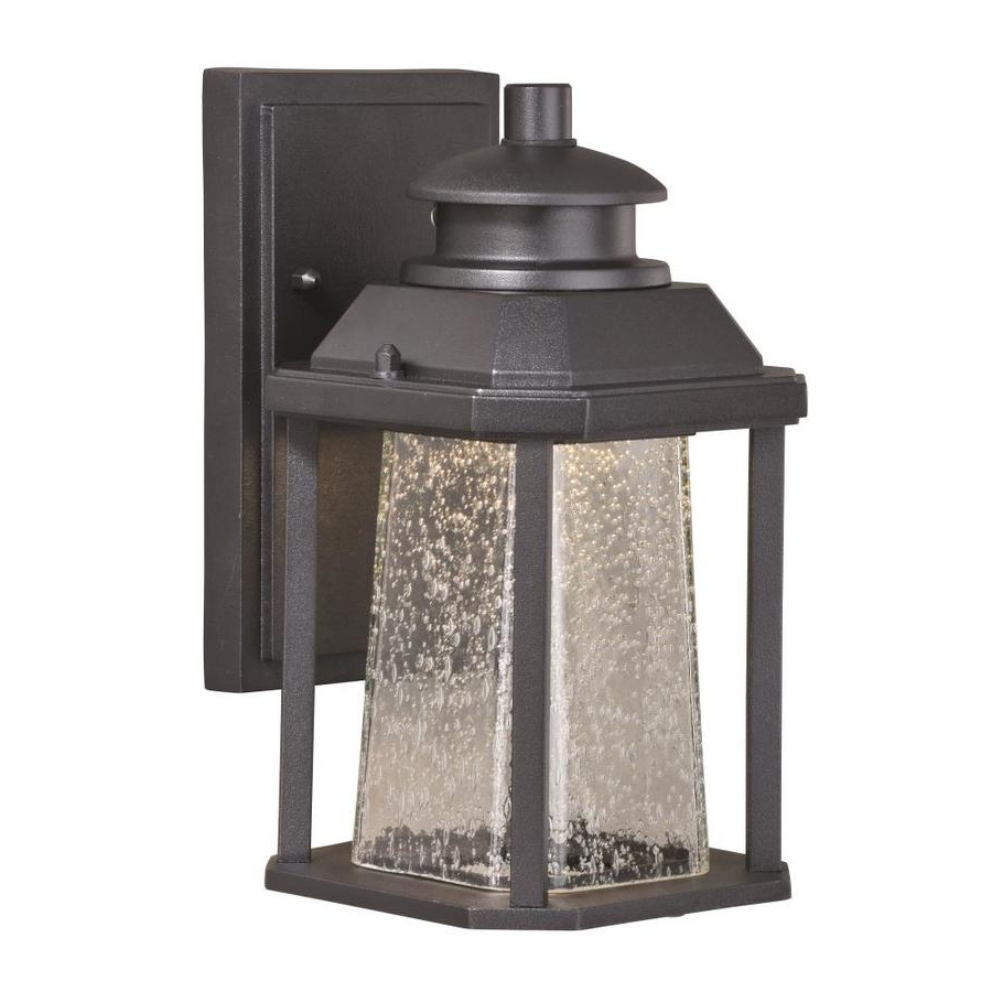 Fashionable Vernie Black 9.75'' H Integrated Led Outdoor Bulkhead Lights Intended For Cascadia Freeport  (View 6 of 15)