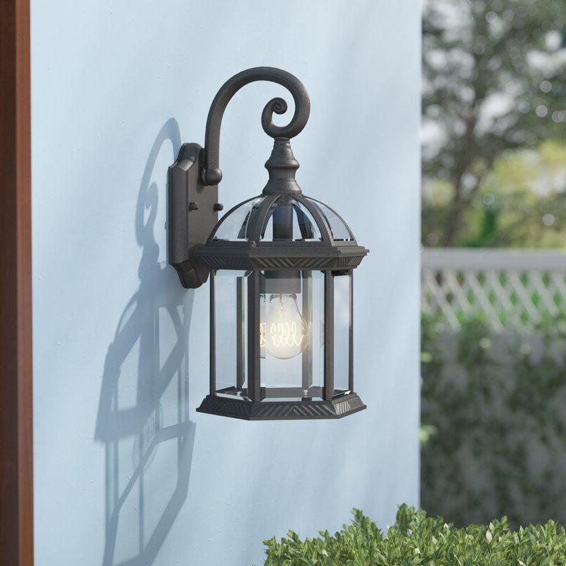 Favorite 1 – Bulb Outdoor Wall Lanterns Pertaining To Astoria Grand Caroline 1 Light Outdoor Wall Lantern (View 5 of 15)