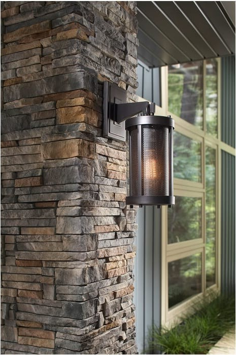 Favorite Brierly Oil Rubbed Bronze/black 12'' H Outdoor Wall Lanterns Intended For Feiss Ol12000orb Bluffton 1 Light Black Outdoor Wall (View 5 of 15)