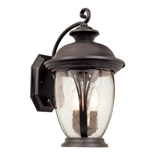 Favorite Chelston 12'' H Seeded Glass Outdoor Wall Lanterns Pertaining To Designers Fountain Westchester 16 In H Bronze Candelabra (View 11 of 15)