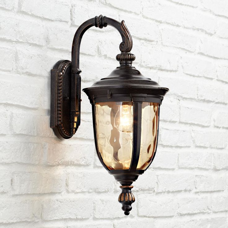 "Favorite Feuerstein Black 16'' H Outdoor Wall Lanterns With Regard To Bellagio™ 16 1/2"" High Downbridge Outdoor Wall Light (View 15 of 15)"