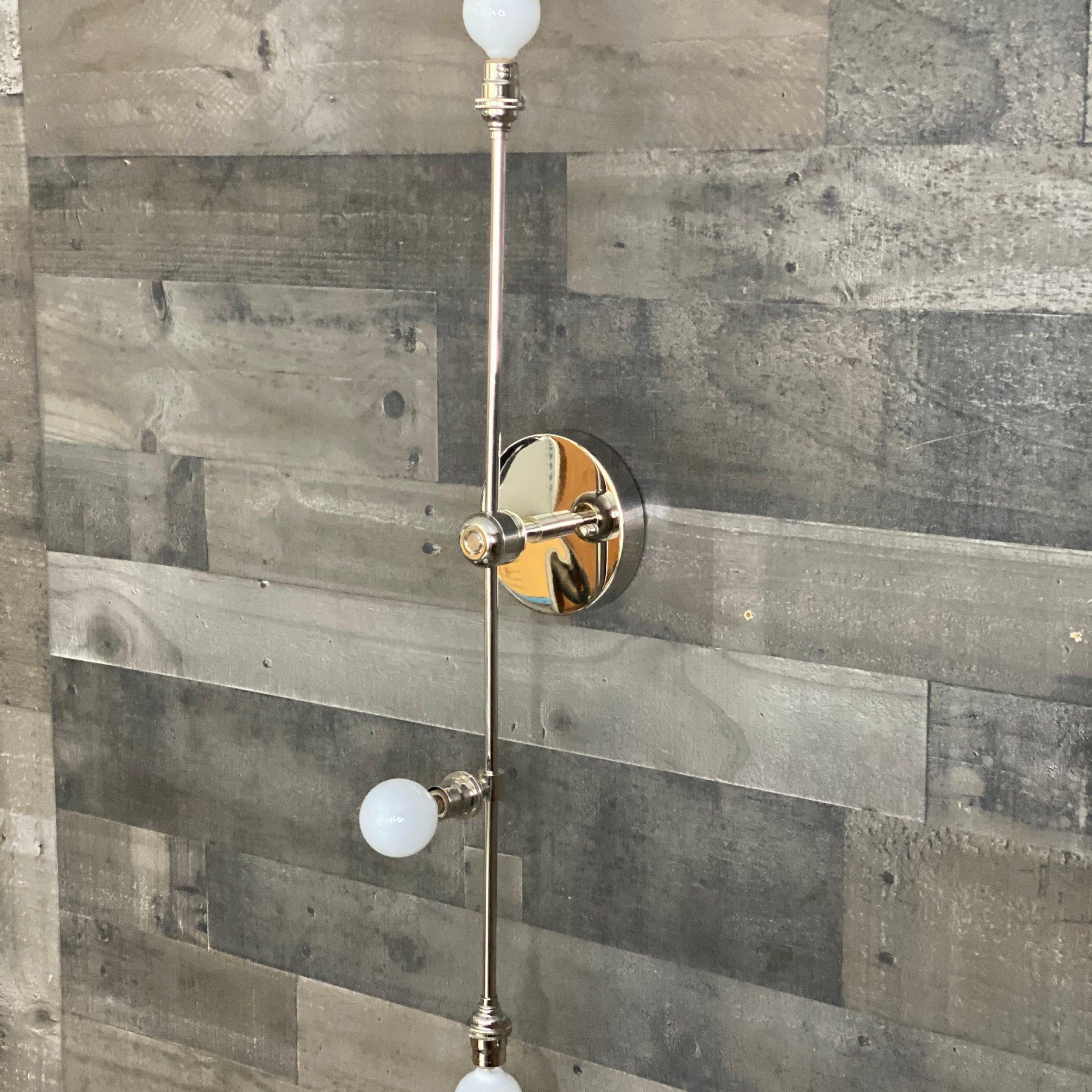 Favorite Nova Modern 3 Bulb Candelabra Wall Sconce Mid Century With Regard To Keikilani Matte Black  (View 9 of 15)