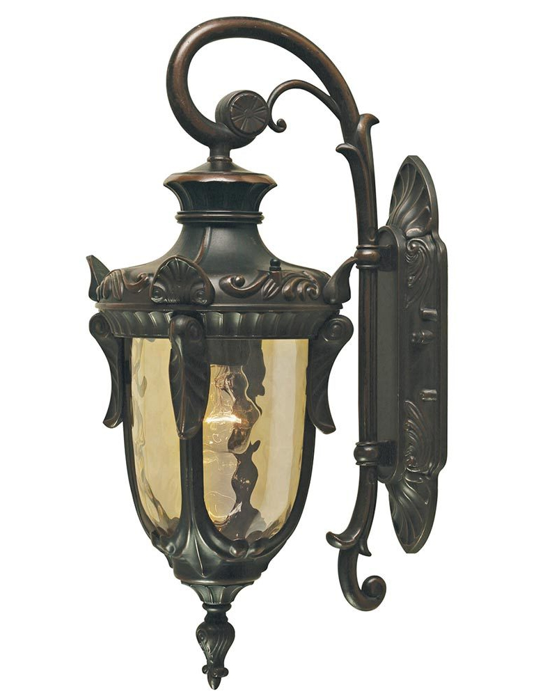 Favorite Tangier Dark Bronze Wall Lanterns With Elstead Philadelphia 1 Light Medium Outdoor Wall Lantern (View 9 of 15)