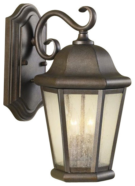 Featured Photo of Robertson 2 – Bulb Seeded Glass Outdoor Wall Lanterns