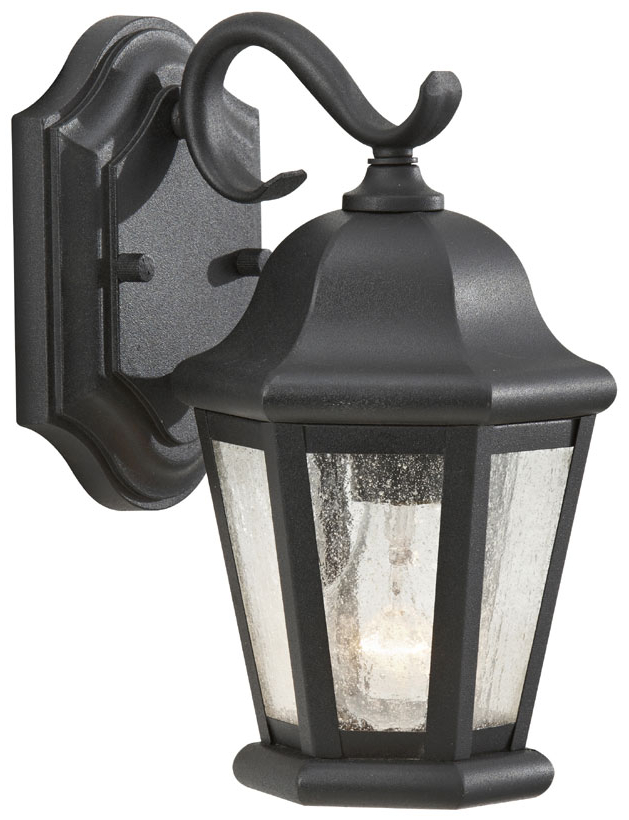 Feiss Ol5900 Bk Martinsville Small Black 10 Inch Tall Regarding Well Liked Heitman Black Wall Lanterns (View 4 of 15)