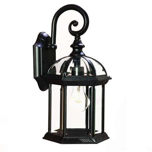 Feuerstein Black 16'' H Outdoor Wall Lanterns Throughout Latest Acclaim Lighting Dover 16 In H Matte Black Medium Base (e (View 8 of 15)