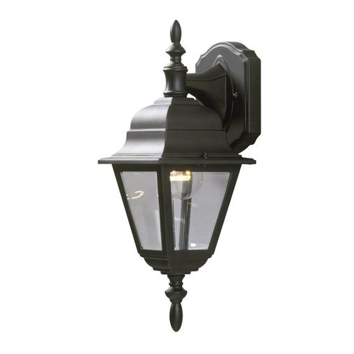 Feuerstein Black 16'' H Outdoor Wall Lanterns Within Most Current Galaxy Lighting 16 In H Black Medium Base (e 26) Outdoor (View 5 of 15)