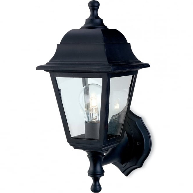 Firstlight 8346bk Traditional Black Coach Outdoor Up With Favorite Heitman Black Wall Lanterns (View 6 of 15)