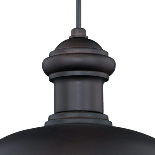 Franklin 13 In Outdoor Pendant Oil Burnished Bronze And Intended For Most Popular Ranbir Oil Burnished Bronze Outdoor Barn Lights With Dusk To Dawn (View 7 of 15)