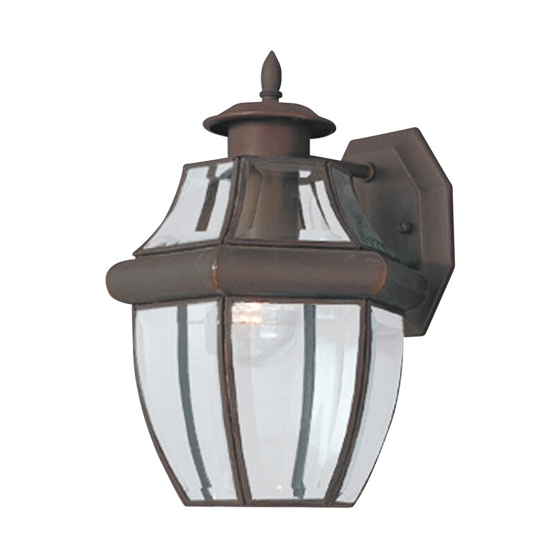 Gillian Beveled Glass Outdoor Wall Lanterns With Most Recent Darby Home Co Kylertown Beveled Glass Outdoor Wall Lantern (View 3 of 15)