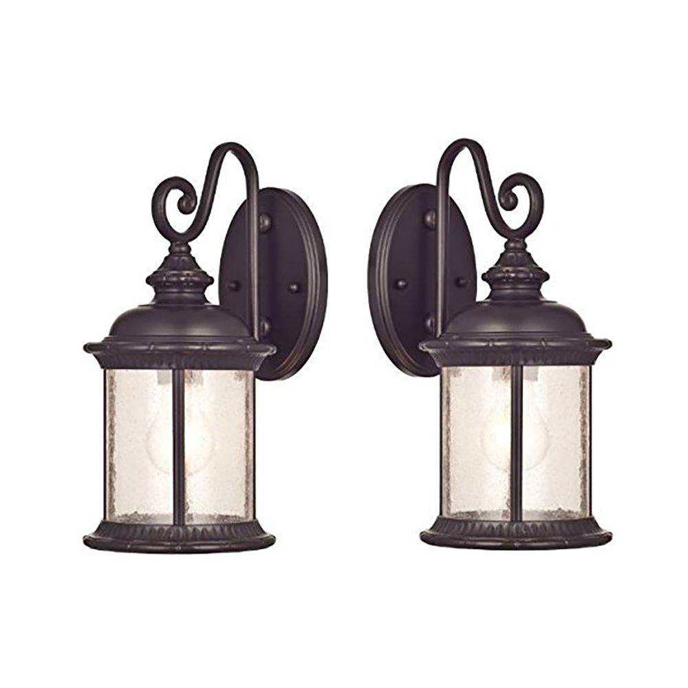 Goodbulb 66972 6230600 New Haven One Light Exterior Wall With Regard To Trendy Heinemann Rubbed Bronze Seeded Glass Outdoor Wall Lanterns (View 13 of 15)