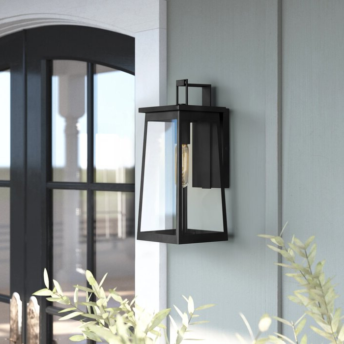 Gracie Oaks Fergie 15.25'' H Outdoor Wall Lantern Within Fashionable Jordy Oil Rubbed Bronze  (View 10 of 15)