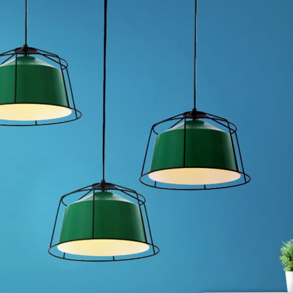 Green Barn Pendant Light Fixture Loft Aluminum 1 Light Throughout Best And Newest Leslie Black  (View 15 of 15)