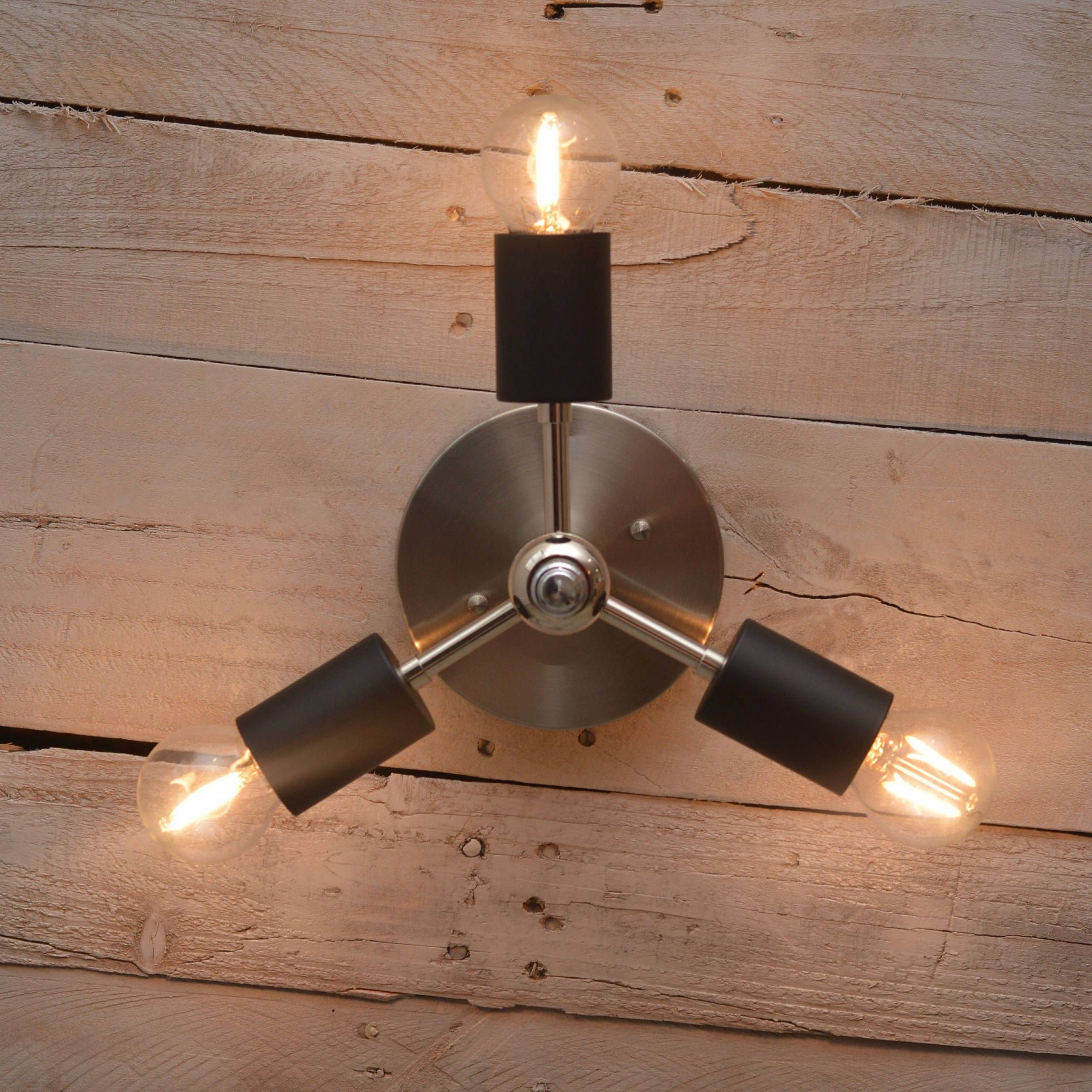 Handmade Nickel And Matte Black Ceiling/wall Fixture Within Well Known Rickey Matte Antique Black Wall Lanterns (View 7 of 15)
