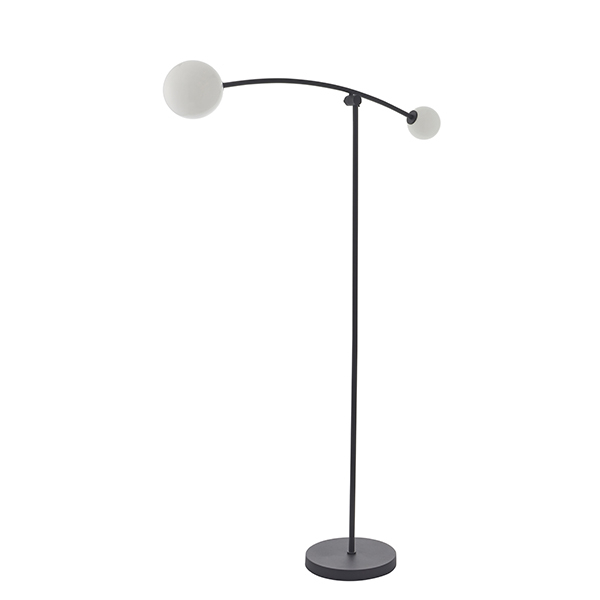 Hector 2 Light Floor Lamp Textured Black – Nottingham With Regard To Most Recently Released Sheard Textured Black 2 – Bulb Wall Lanterns (View 3 of 15)