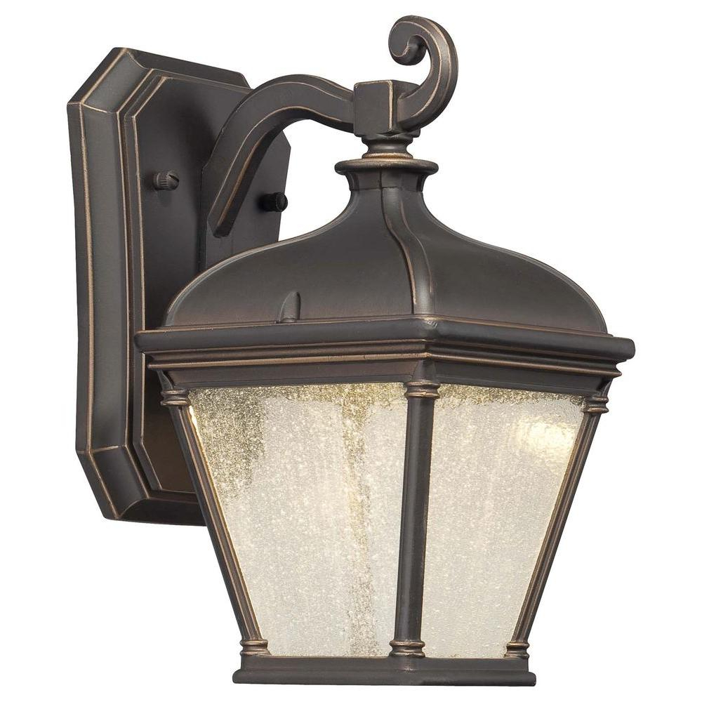 Heinemann Rubbed Bronze Seeded Glass Outdoor Wall Lanterns With 2019 The Great Outdoorsminka Lavery Lauriston Manor 1 Light (View 15 of 15)