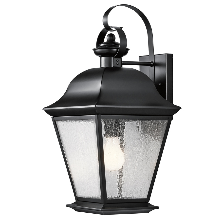 Heitman Black Wall Lanterns Intended For Well Known Shop Kichler Lighting Mount Vernon  (View 2 of 15)