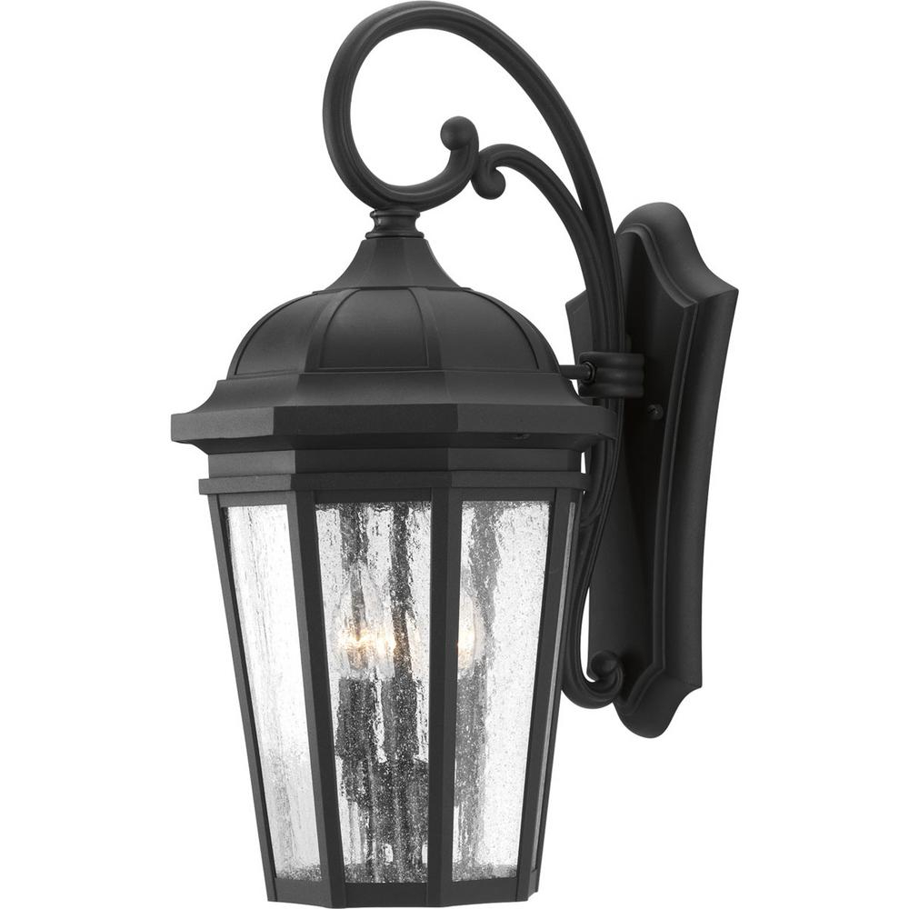 Heitman Black Wall Lanterns Pertaining To Widely Used Progress Lighting Verdae Collection 3 Light  (View 3 of 15)