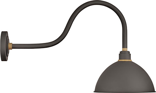 """Hinkley Foundry 17"""" Outdoor Wall Lighting – Bronze 10554mr Inside Most Recent Borde Black  (View 5 of 15)"""