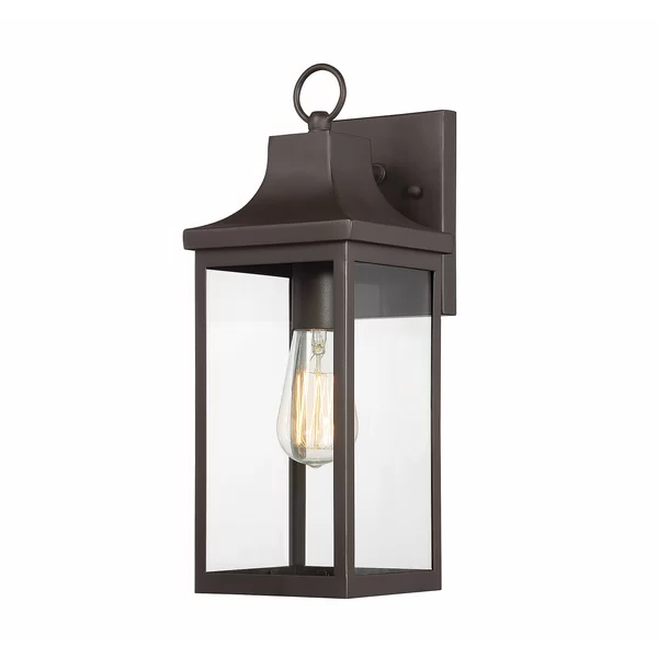 Jordy Oil Rubbed Bronze 15.25'' H Outdoor Wall Lanterns Within Favorite Seaforth Oil Rubbed Bronze  (View 4 of 15)