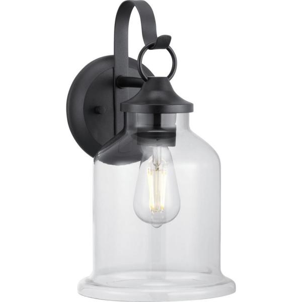 Keikilani Matte Black 14.5'' H Wall Lighting For Trendy Progress Lighting Canton Heights 2 Light 18 In (View 3 of 15)