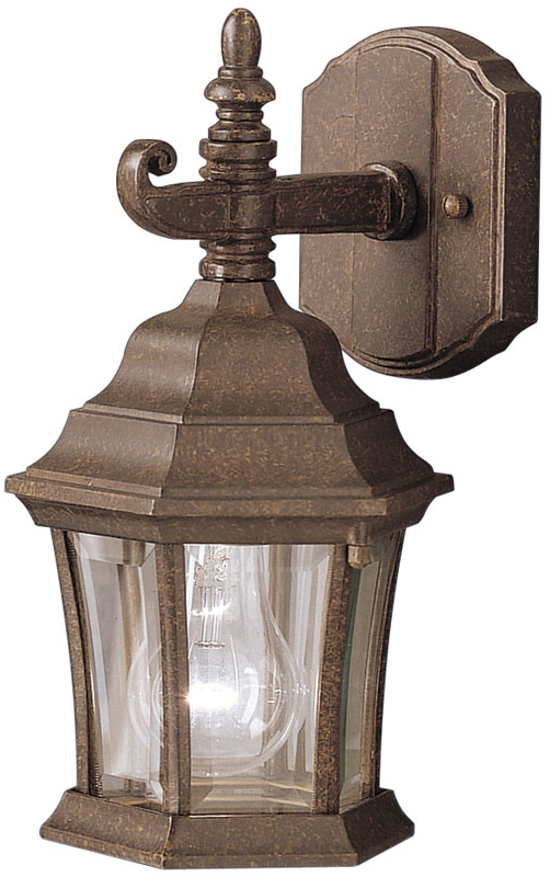 Kichler 9788tz Townhouse 12 Inch Fluorescent Exterior Wall Throughout Popular Faunce 12'' H Beveled Glass Outdoor Wall Lanterns (View 12 of 15)