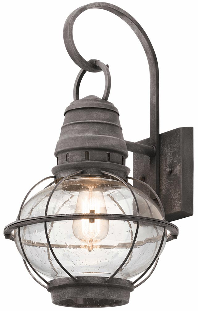 Kichler Bridge Point 1 Light Large Outdoor Wall Lantern In Well Known Brookland Outdoor Wall Lanterns (View 11 of 15)
