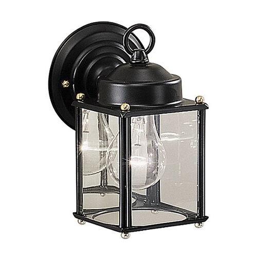 Kichler New Street 8.25 In H Black Outdoor Wall Light In In Most Recent Socorro Black  (View 3 of 15)