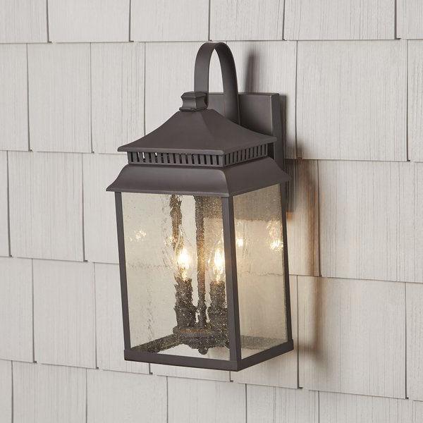 Krajewski 8'' H Wall Lanterns Pertaining To Well Known $161 Briarfield 2 Light Outdoor Wall Lantern & Reviews (View 3 of 15)