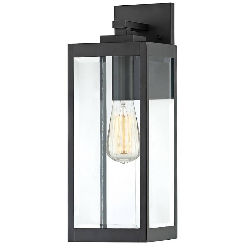 """Latest Ainsworth Earth Black Outdoor Wall Lanterns In Quoizel Westover 17"""" High Earth Black Outdoor Wall Light (View 14 of 15)"""