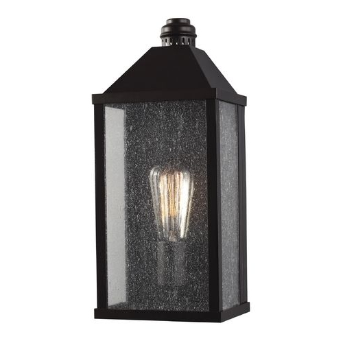 Latest Heinemann Rubbed Bronze Seeded Glass Outdoor Wall Lanterns Pertaining To Feiss Lighting Lumiere Oil Rubbed Bronze Outdoor Wall (View 12 of 15)