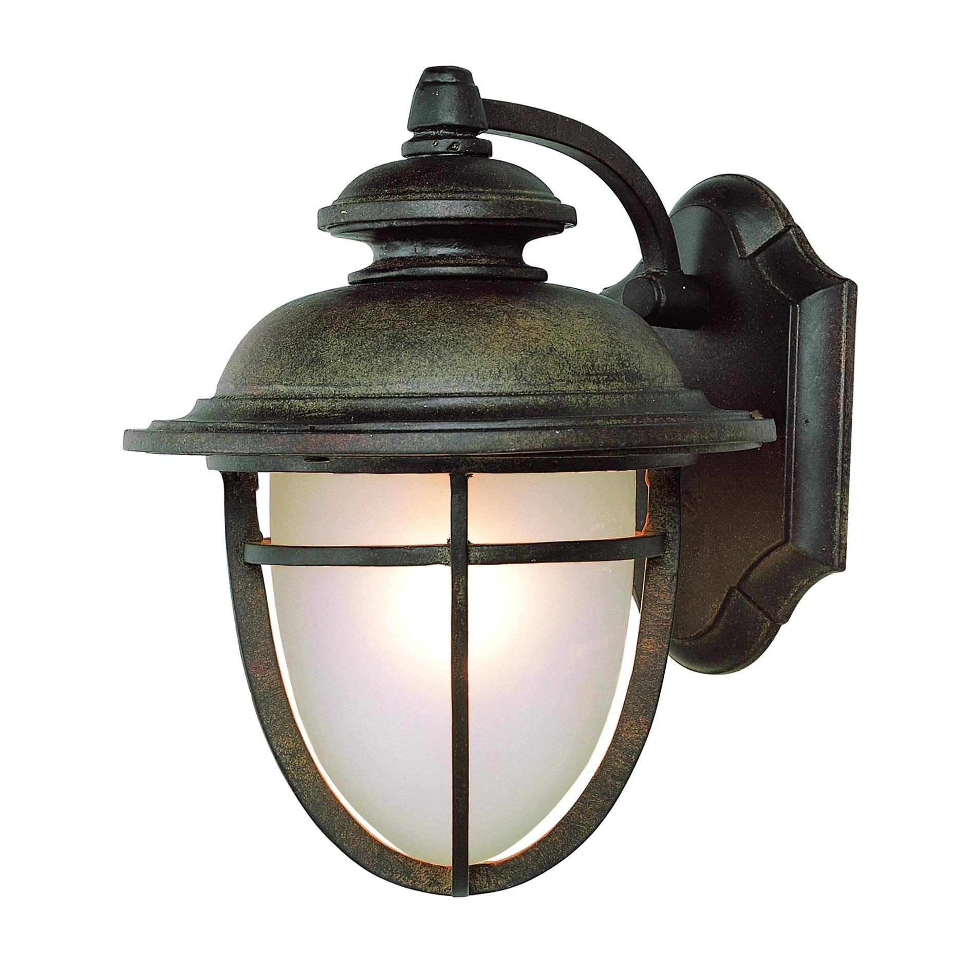 Latest Nayen Black 23'' H Wall Lanterns Within Transglobe Lighting Outdoor 1 Light Wall Lantern In Dark (View 11 of 15)