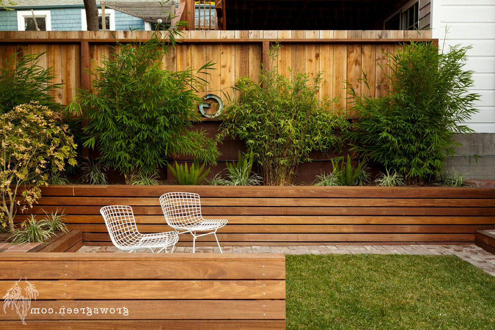 Latest Oneal Outdoor Barn Lights With Rhode Island Garden – Contemporary – Patio – San Francisco (View 8 of 15)