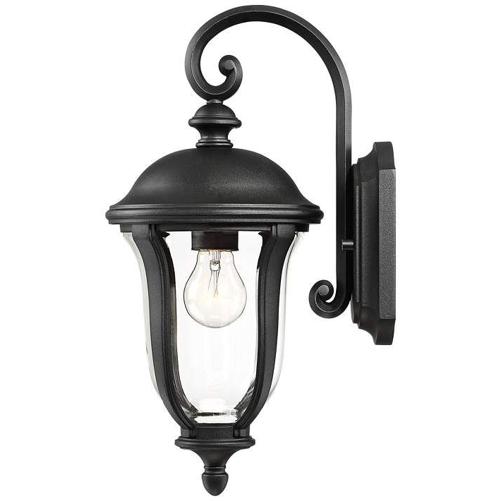 """Latest Park Sienna 16 3/4"""" High Black Outdoor Wall Light – #44a58 Within Feuerstein Black 16'' H Outdoor Wall Lanterns (View 6 of 15)"""