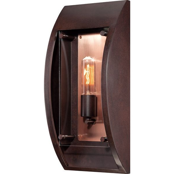 """Latest Quoizel Slo8407cu Solano 7.5"""" Copper Bronze Outdoor Wall Pertaining To Cano  (View 9 of 15)"""