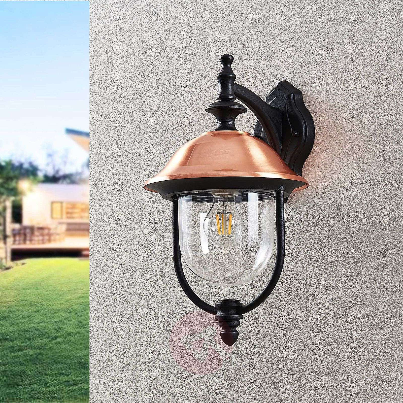 Latest Rockmeade Black 11'' H Outdoor Wall Lanterns In Lindby Clint Outdoor Wall Light, Hanging Lantern (View 10 of 15)
