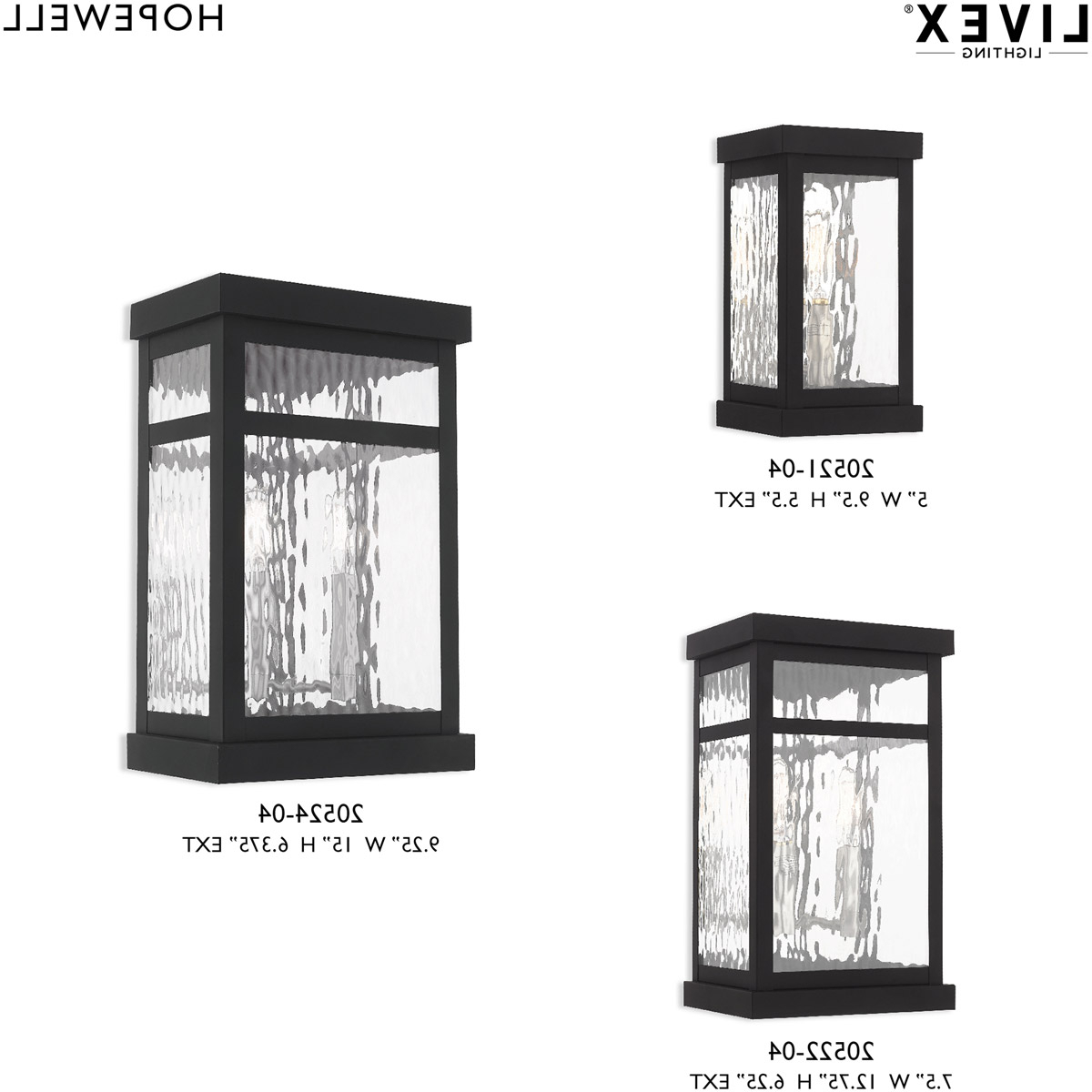 Livex 20521 04 Hopewell 1 Light 10 Inch Black Wall Lantern With Regard To Favorite Rockmeade Black 11'' H Outdoor Wall Lanterns (View 14 of 15)