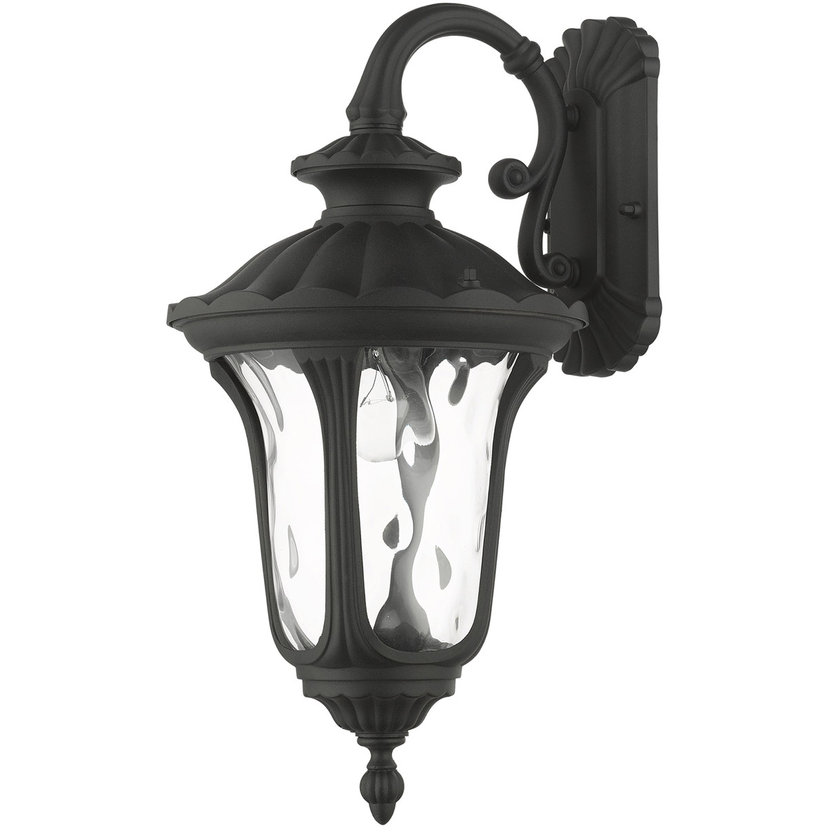 Livex 7851 14 Oxford 1 Light 16 Inch Textured Black In Widely Used 1 – Bulb Outdoor Wall Lanterns (View 4 of 15)