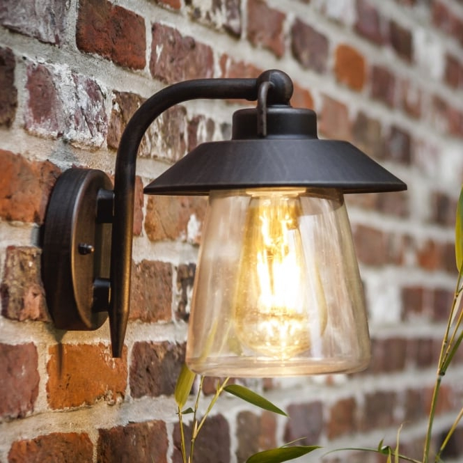 Lutec Cate Exterior Wall Lantern In Brown/black – Fitting For Well Known Malak Outdoor Wall Lanterns (View 11 of 15)