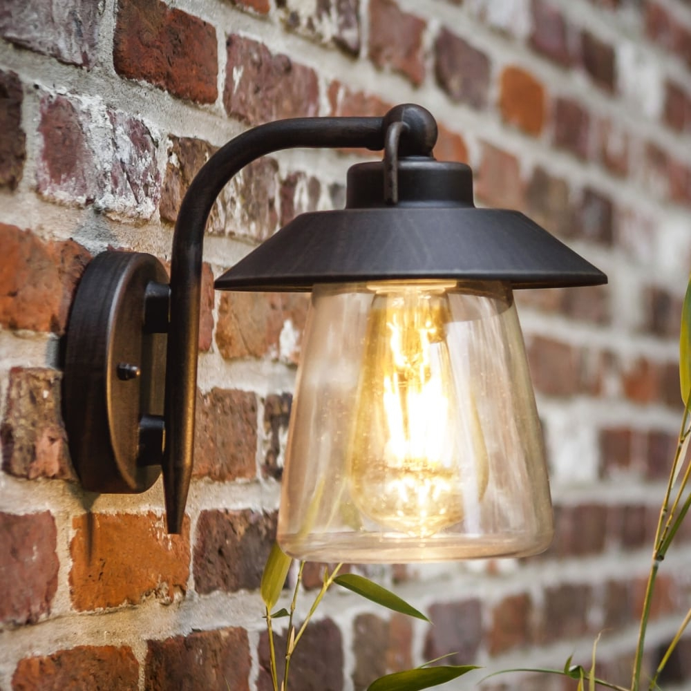 Lutec Cate Exterior Wall Lantern In Brown/black – Fitting Within Newest Brookland Outdoor Wall Lanterns (View 3 of 15)