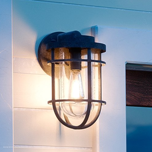 """Luxury Nautical Outdoor Wall Light, Small Size: 9.75""""h X 6 In Most Up To Date Gillett  (View 5 of 15)"""