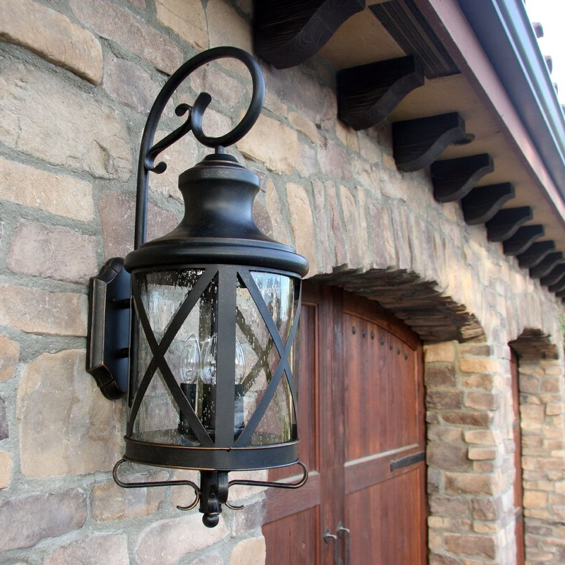 Malak Outdoor Wall Lanterns Intended For Well Known Three Posts Fairbury Outdoor Wall Lantern & Reviews (View 3 of 15)