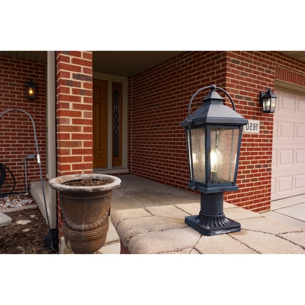 Manteno Black Outdoor Wall Lanterns With Dusk To Dawn Pertaining To Latest Shop Lexington 1 Light Dusk To Dawn Black Rectangle (View 8 of 15)