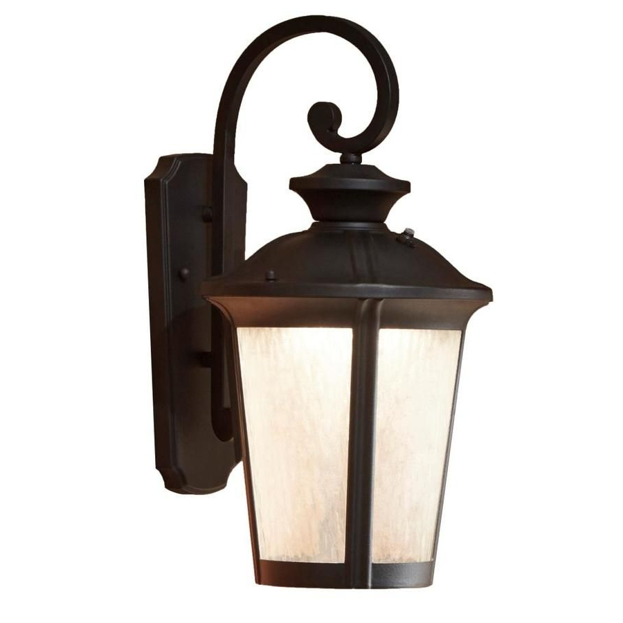 Manteno Black Outdoor Wall Lanterns With Dusk To Dawn With Regard To Most Current Allen + Roth Dashwood  (View 7 of 15)