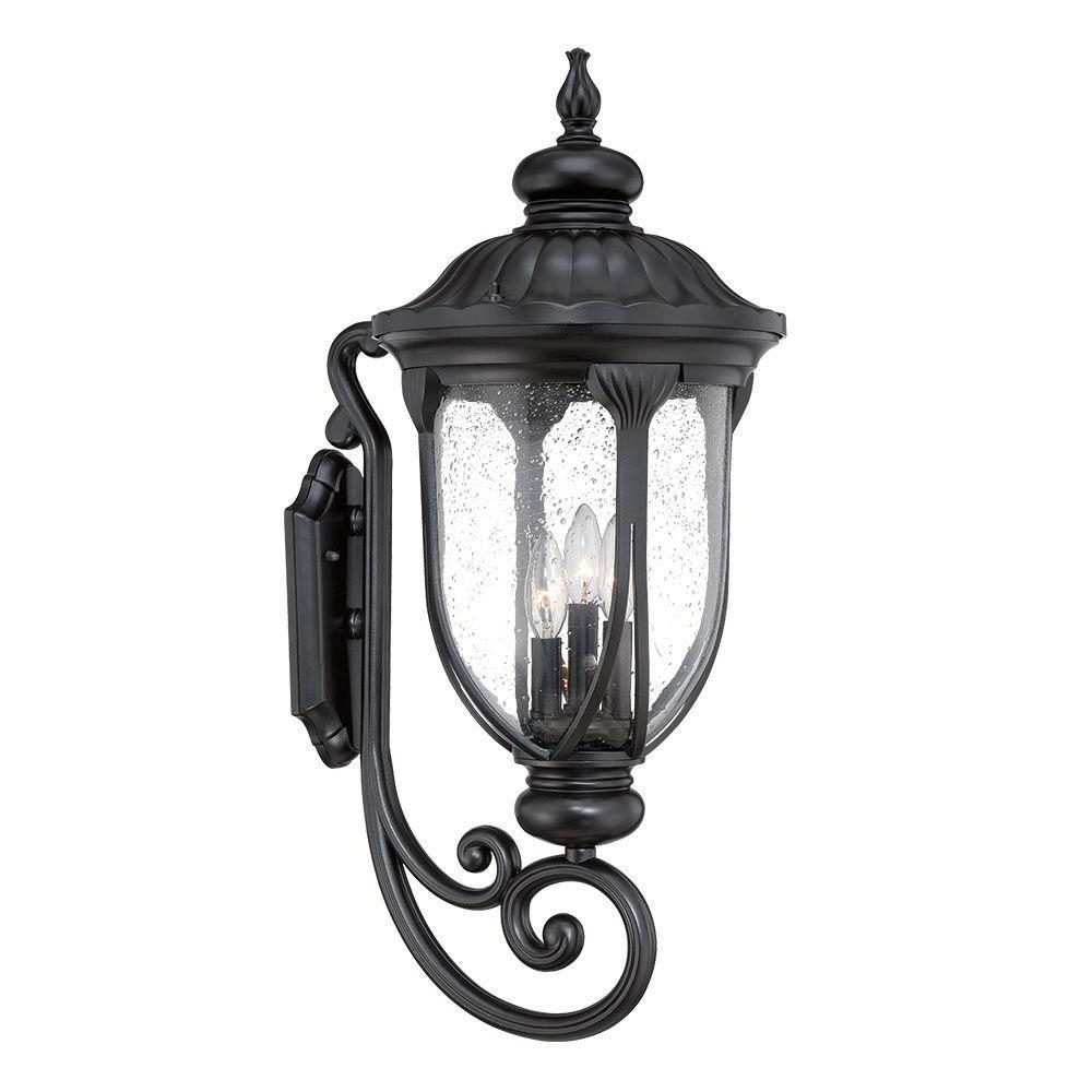 Mccay Matte Black Outdoor Wall Lanterns Regarding Well Known Acclaim Lighting Laurens Collection 3 Light Matte Black (View 5 of 15)