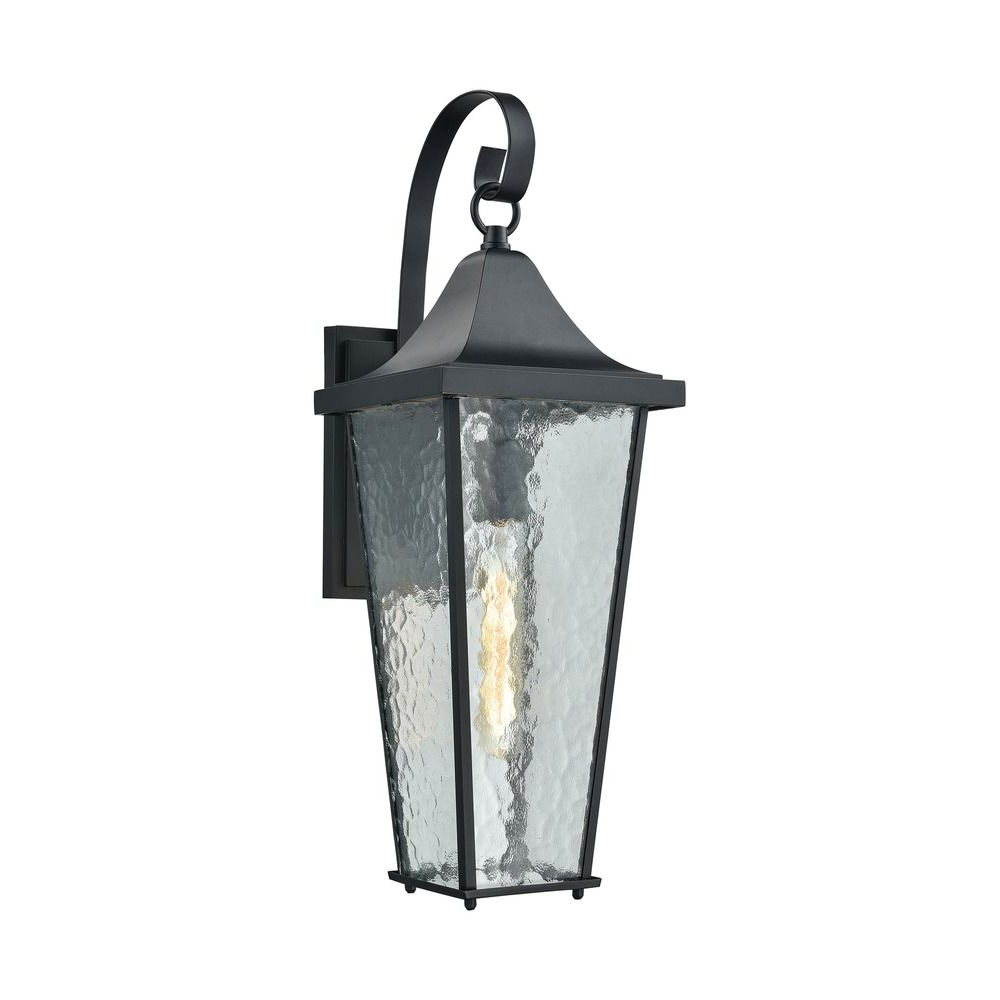 Mccay Matte Black Outdoor Wall Lanterns Within Best And Newest Elk Lighting Vinton Matte Black Outdoor Wall Light (View 3 of 15)
